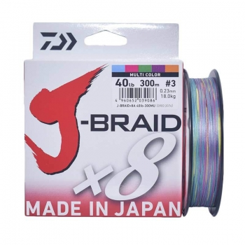 плетеный шнур daiwa j-braid x8 300м multycollor