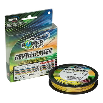 плетеный шнур power pro depth hunter multicolor 150м
