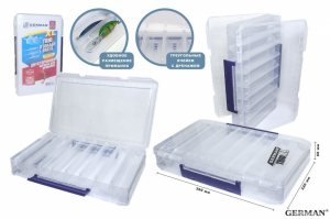 Коробка для приманок двухсторонняя German Trio Storage Baits 350 XL