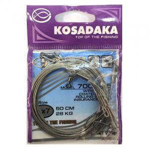 Поводки для троллинга Kosadaka 1х7 нитей серия 7000