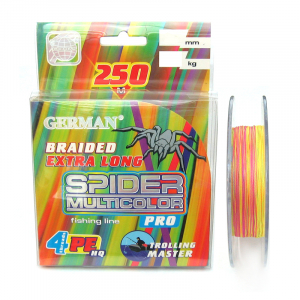 Плетеный шнур German Spider Multicolor x4 250м