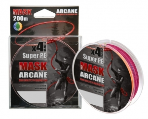 Плетеный шнур Akkoi Mask Arcane X4-200 Multicolor 200м