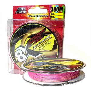 Плетеный шнур Seox PE Multicolor x8 300м