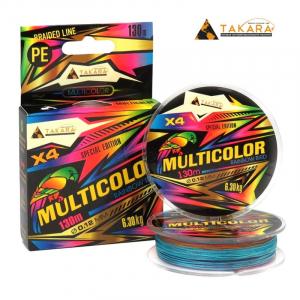 Плетеный шнур Takara Rainbow Bird Multicolor x4 130м