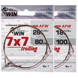 Поводки для троллинга WIN trolling 7х7 нитей